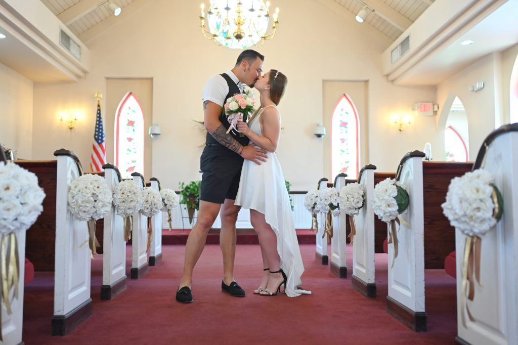 Couple married in our Vegas wedding chapel