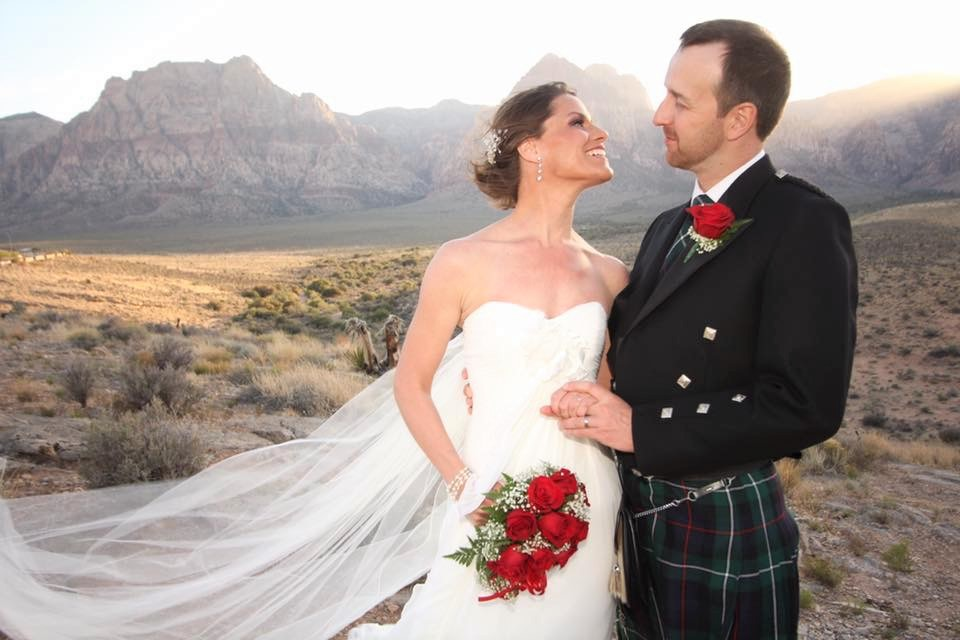 Newly Married Couple Red Rock Wedding