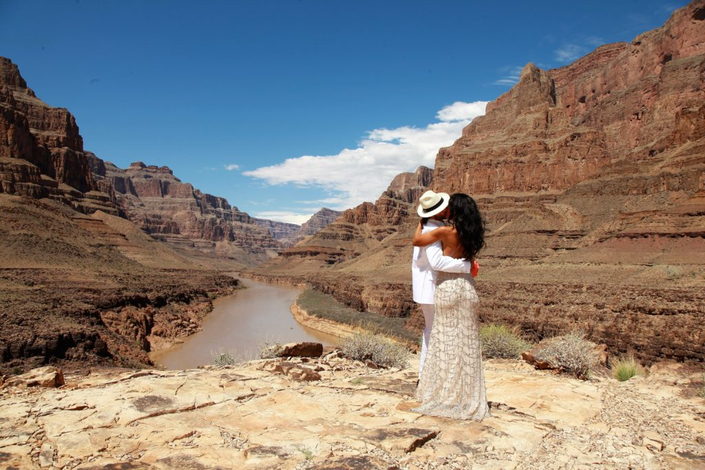 Newly married couple Grand Canyon Wedding